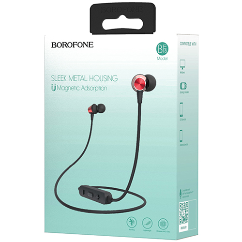 Slušalice Borofone BE18 sport wireless crvene