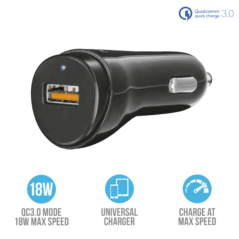 Ultra Fast USB Car Charger Trust